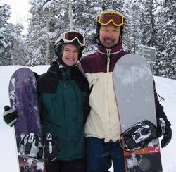 Dwight and Cindi LOVE to snowboard!!