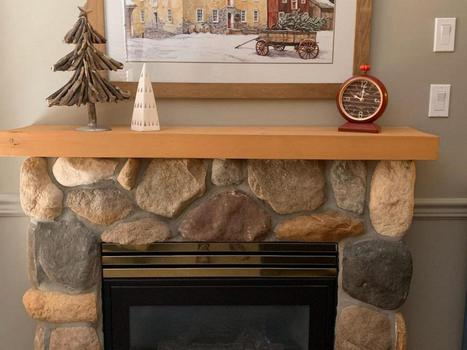 ...cozy fireplace starts with the flip of a switch..