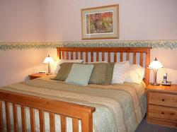 Bedroom with super-comfortable King size bed. Rave reviews from guests!