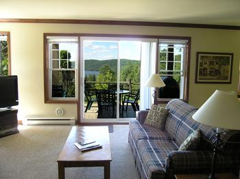 Open concept living room .. beautiful scenic views !!