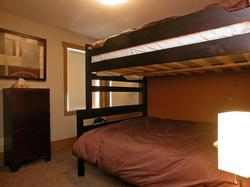 Double over Queen bed in Second bedroom