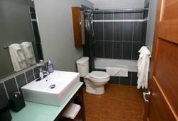 Main bathroom conveniently located off the central hallway.