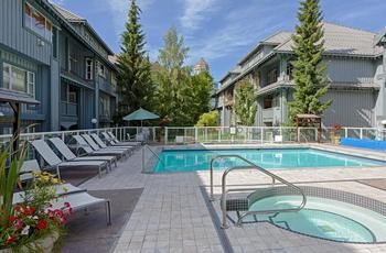 2 outdoor hot tubs and heated pool