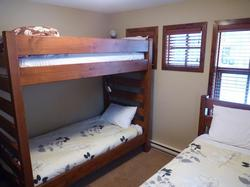 3rd bedroom with single/single bunk, and a single bed