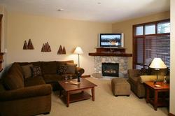 Comfy living room to curl up and relax. Enjoy DVD's and TV on a 42inch Plasma screen. Wireless internet router for your lap top is provided for your use.