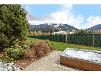 Private Hot tub with view of Blackcomb Mountain