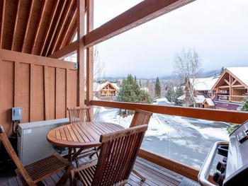 Private deck located off the living area. Fantastic upper level views of the Mountain slopes.  Located on the deck is also your own private BBQ