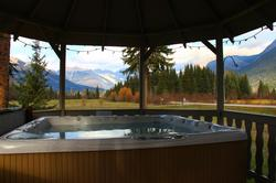 Summer or Winter, stunning views from the 6 person hot tub.