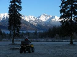 A crisp October morning and another great view from the back yard at Bear Paw Lodge. Perfect day for a quad ride.