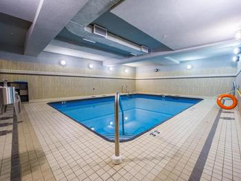 Indoor salt water pool located on main level is available for exclusive guest use.