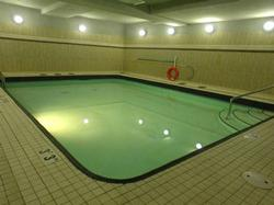 Enjoy the indoor heated salt water pool