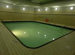 The swimming pool is located on the first floor of the building and is for exclusive use by Raven guests.
