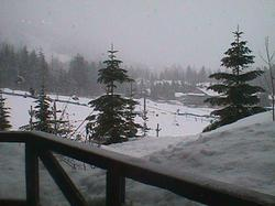 View of Blackcomb ski slope from the private deck