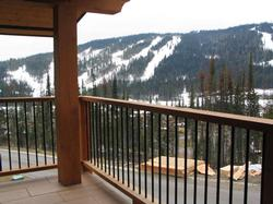 The view off the master bedroom deck