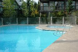 Enjoy the year round heated pool and large hot tub