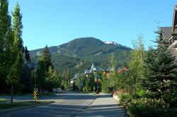 View of Whistler mountain from NorthStar