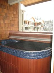Relax in the hot tub after a full day of skiing!
