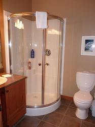 Our condo offers 2 full bathrooms - one features a shower and the other one a bath tub