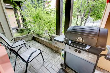 Front patio with gas BBQ