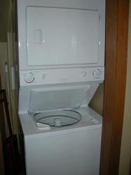 In suite laundry center with detergent.