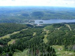 This is a view from the top of Mont Tremblant in summer. You can ride a gondola to the top and enjoy the views. If you are very fit, you may wish to hike up and/or down!!