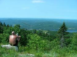 This is a view from halfway up Mont Tremblant. In winter, there are 94 ski runs to pick from. In summer, it is a hiker's paradise.