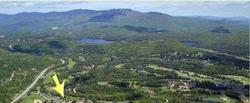 Aerial View of Resort - Mont Tremblant in background