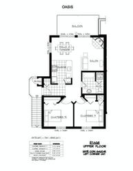 Floor plan of this 2 bedroom unit.