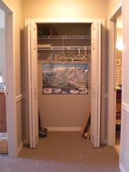 Hall closet for storage