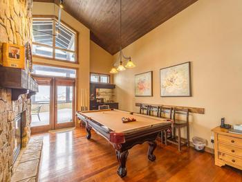 Spectacular penthouse boast a pool table and mini bar.