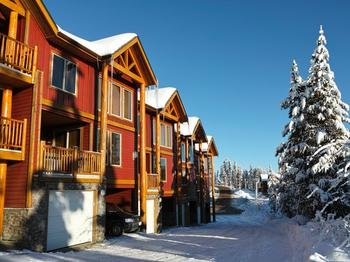 This is the front of our ski home in Perfection Ridge