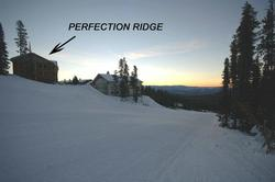 Perfection Ridge ski in/out access to Perfection ski run.