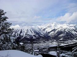 View of Fernie from the backcountry