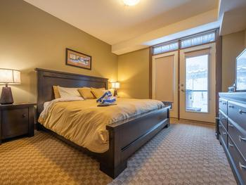 Luxurious master bedroom with King Bed and TV/DVD