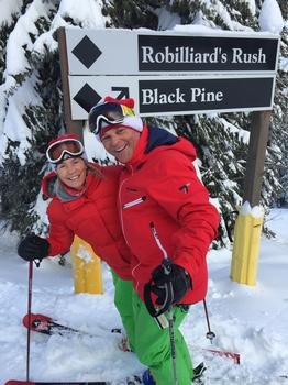 Heather and John, both enthusiastic alpine skiers and X-country skiers.