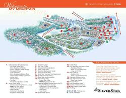 Silver Star Mountain Village Map. Silverado, executive vacation home, is located at item 20.