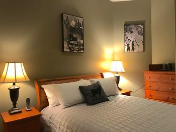 Queen Bedroom located on the entry level offers the elderly and challenged effortless ease.
