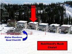 True ski-to-your-door access and the Alpine Meadows chairlift is just a few steps from the house. CLICK on Photo Gallery Link to see the full picture.
