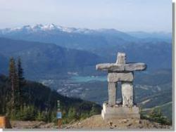 On top of Whistler Mountain near the Roundhouse