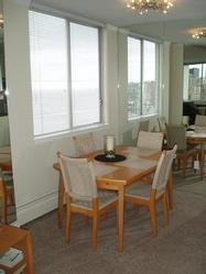 Dining Area with view of English Bay.