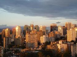 Vancouver at Sunset.