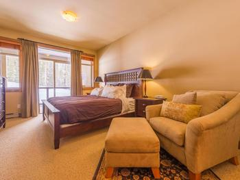 Master Bedroom with King bed and ensuite bathroom is located on the second floor.