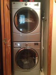 A necessity! Full-sized, high efficiency washer and dryer in the unit.