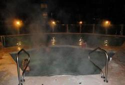 Relax at night after a long day of skiing in the outdoor pool and hot tub.