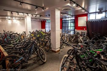 Enjoy a joke wash station outside the parkade and lock your bike in the video monitored, indoor bike room at no cost just. Bike room is on the main floor next to the front desk.