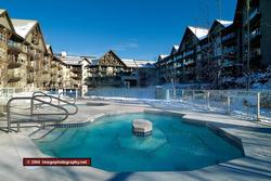 Year round heated outdoor pool with three shared hot tubs