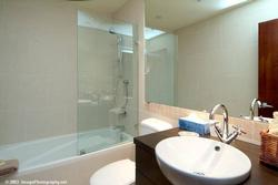 Main bathroom, combination tub/shower.Imported fixtures, heated floors deluxe!