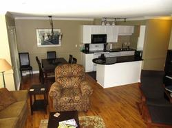 Spacious living room, dining room and kitchen. See our photo gallery for more pictures