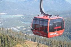 The fabulous Peak2Peak gondola ride between Whistler and Blackcomb mountains - Breathtaking!