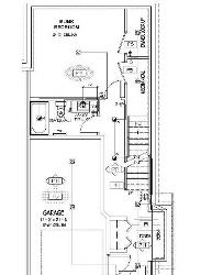 Reverse to the floor plan shown above, The bunk bedroom and garage are located on the entry level